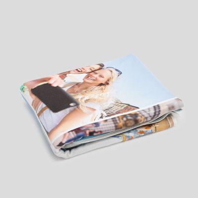 Serviette de plage personnalisée avec photos de couple