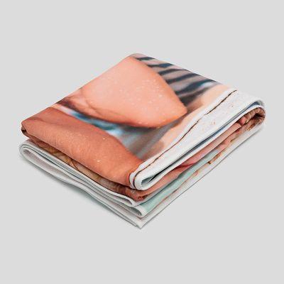 serviette photo personnalisée