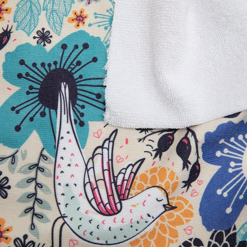 custom Towelling fabric samples printing