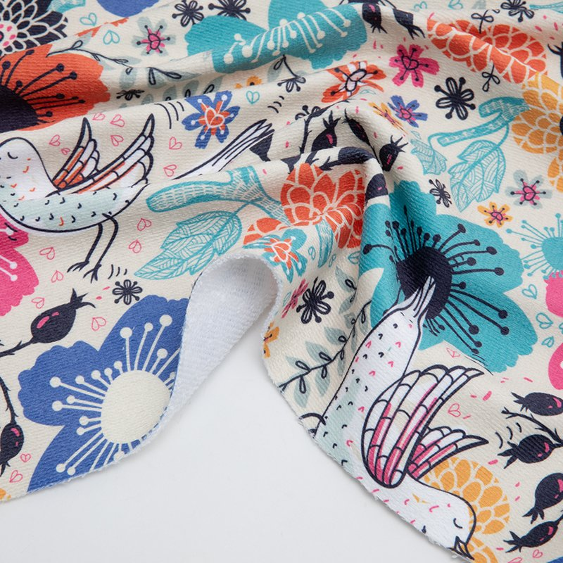 print Towelling fabric