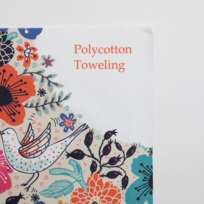 digital printing pattern on Toweling