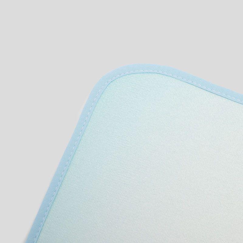 custom bath mats fabric details