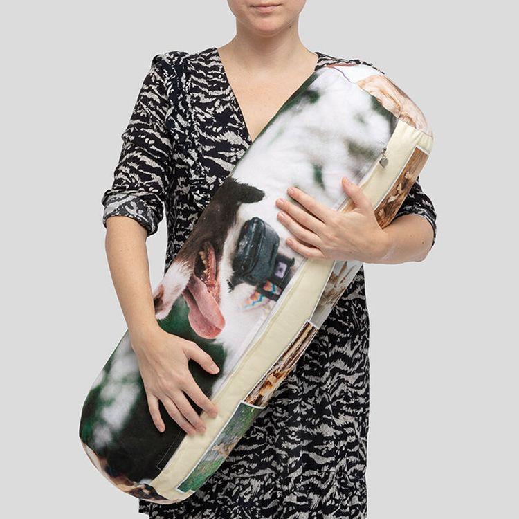 cuscino cilindrico personalizzato