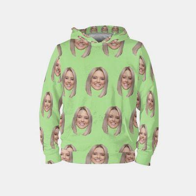 ansikte på hoodies