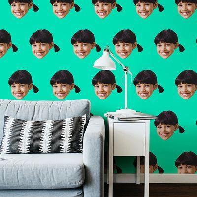 behangpapier met gezichten