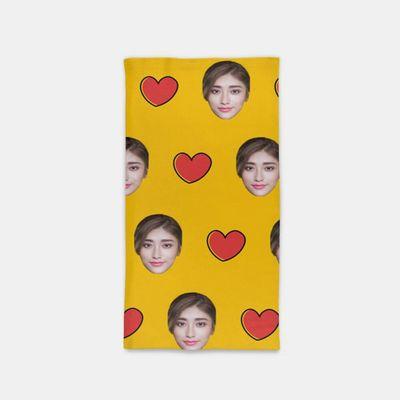 écharpe tube avec visages