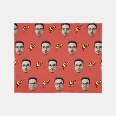 スカーフ 顔プリント