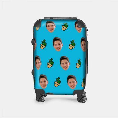スーツケース 顔プリント
