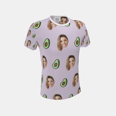 顔プリント メンズ全面プリントTシャツ