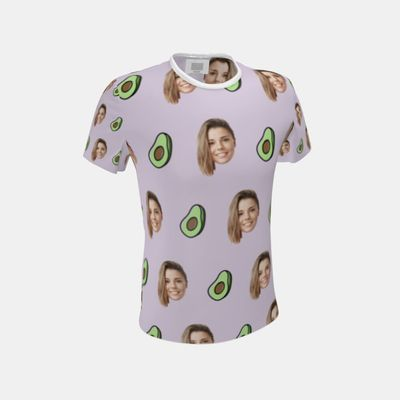 t-shirt herr med ansikte