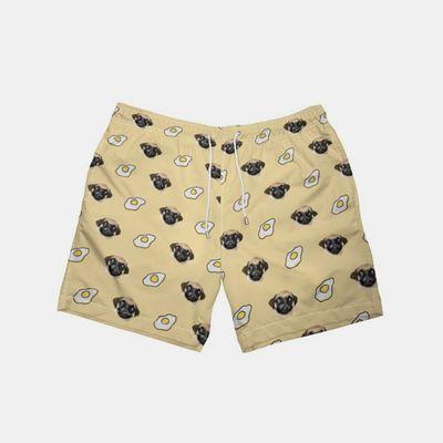 shorts de piscine avec visages