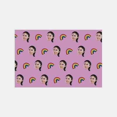 Bandiera personalizzata con facce