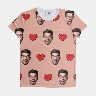 T-Shirt mit Fotodruck Gesicht