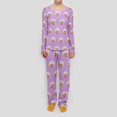 pyjamas med ansikten