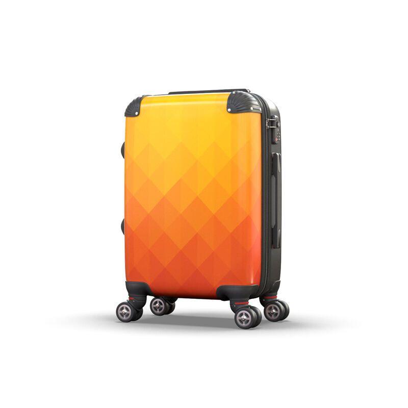 fabric detail of custom suitcase
