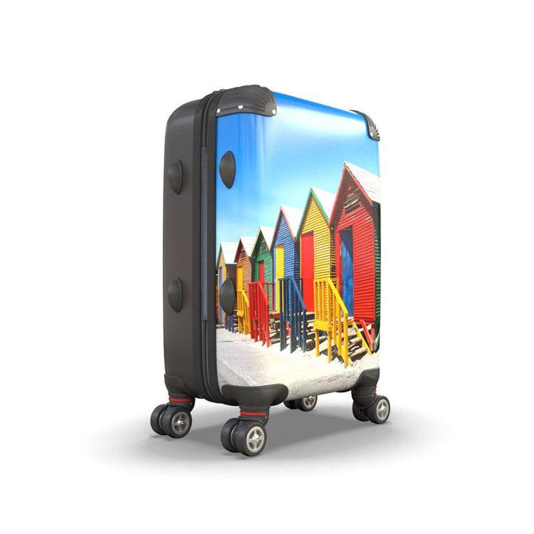 bedrukte koffer met vakantiefoto