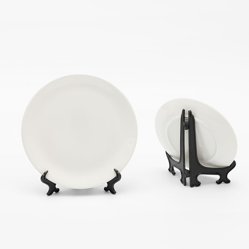 Impression sur assiette en céramique avec support