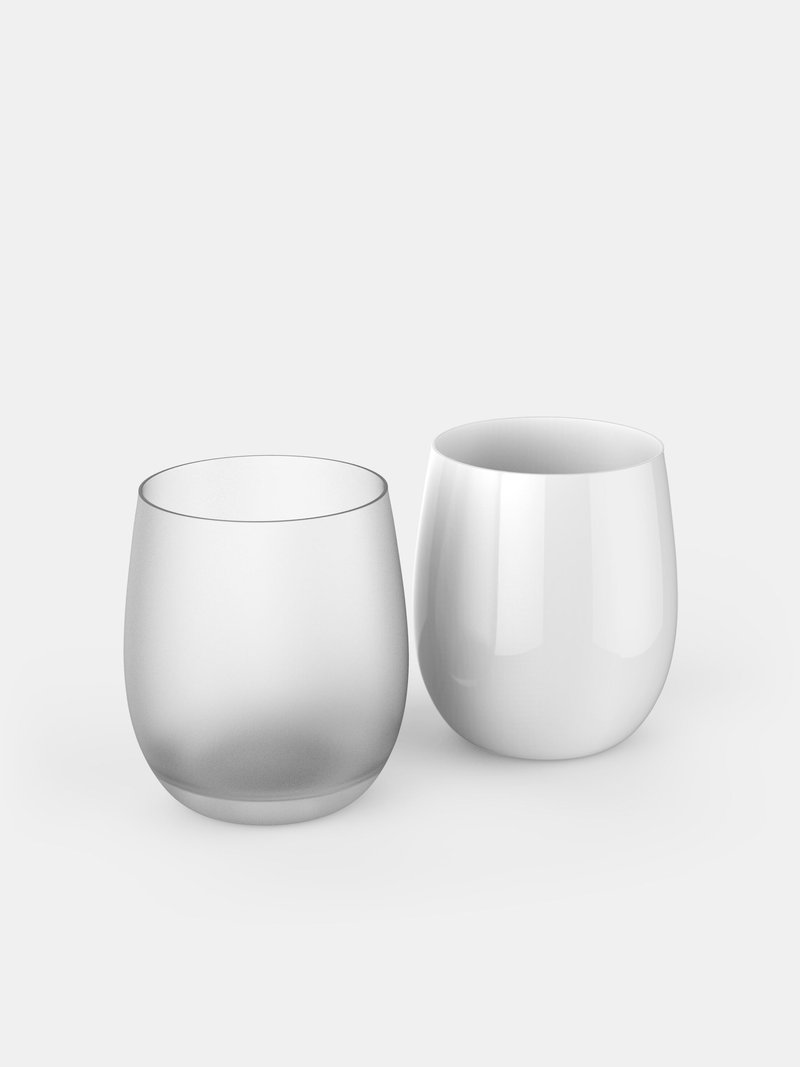 custom water glass unprinted finish options