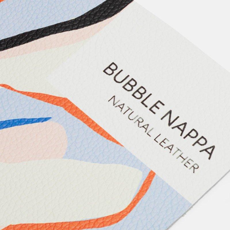 impresion en cuero nappa textura burbuja