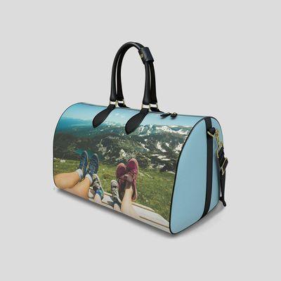 bolso de viaje compacto de cuero personalizado