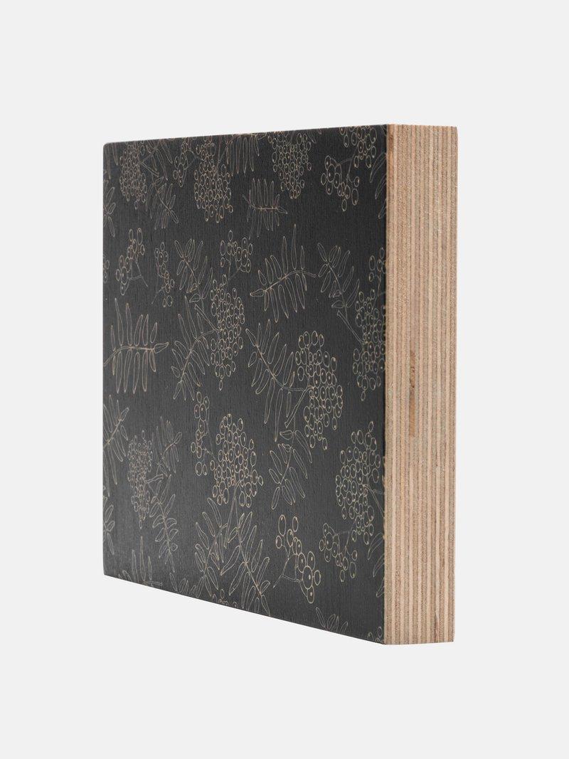 ontwerp of foto op houtblok