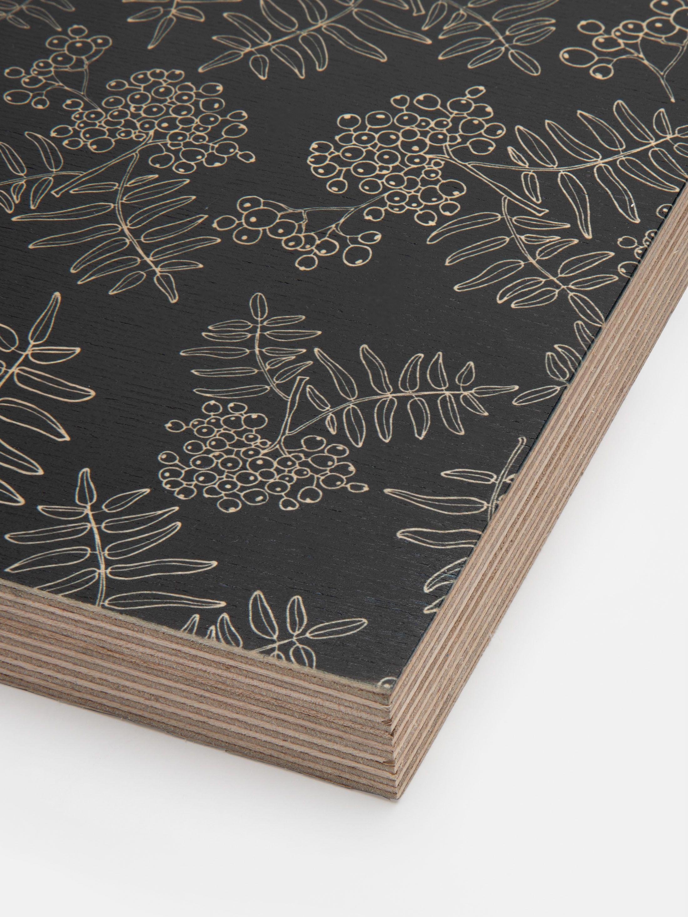 achterkant gepersonaliseerd houtblok