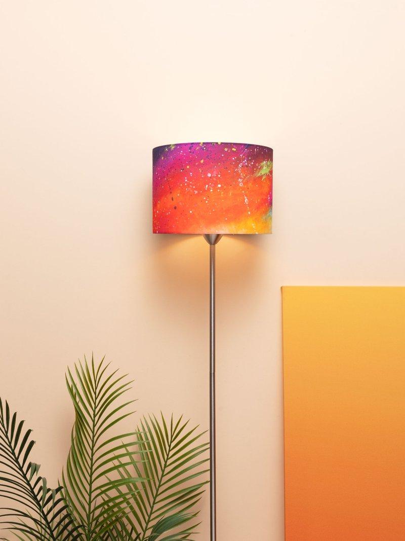 lampenschirm mit licht an
