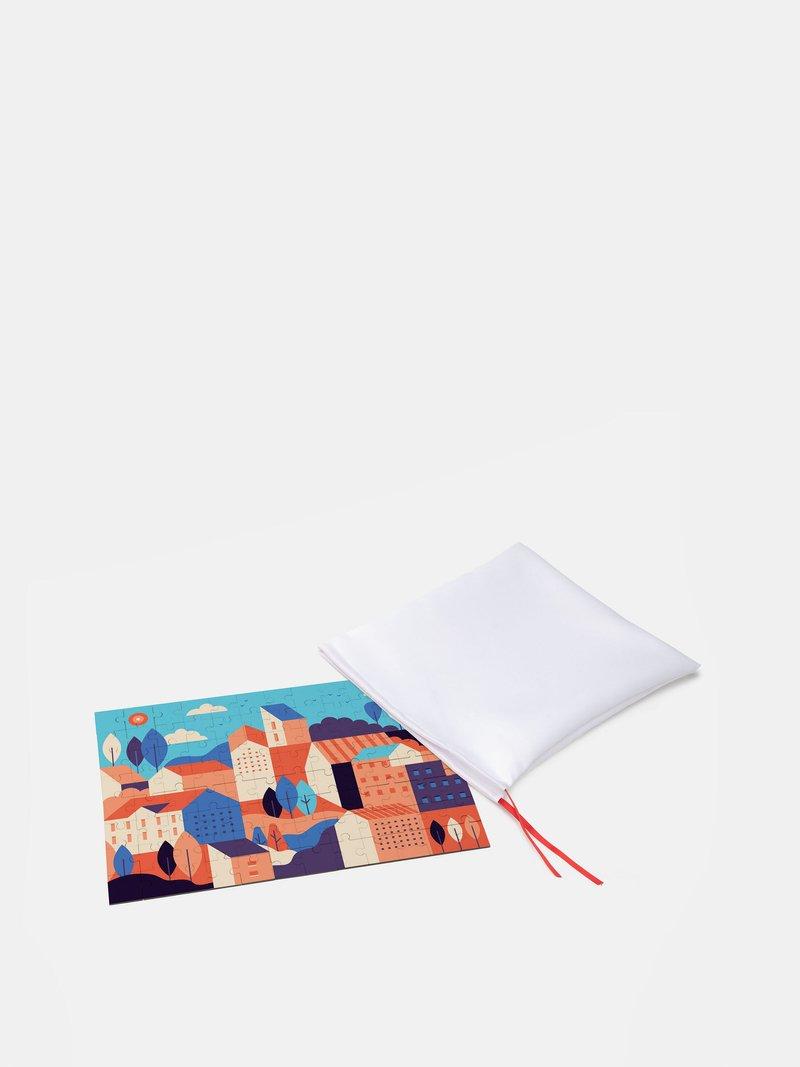 puzzle personalizzato in borsetta di seta