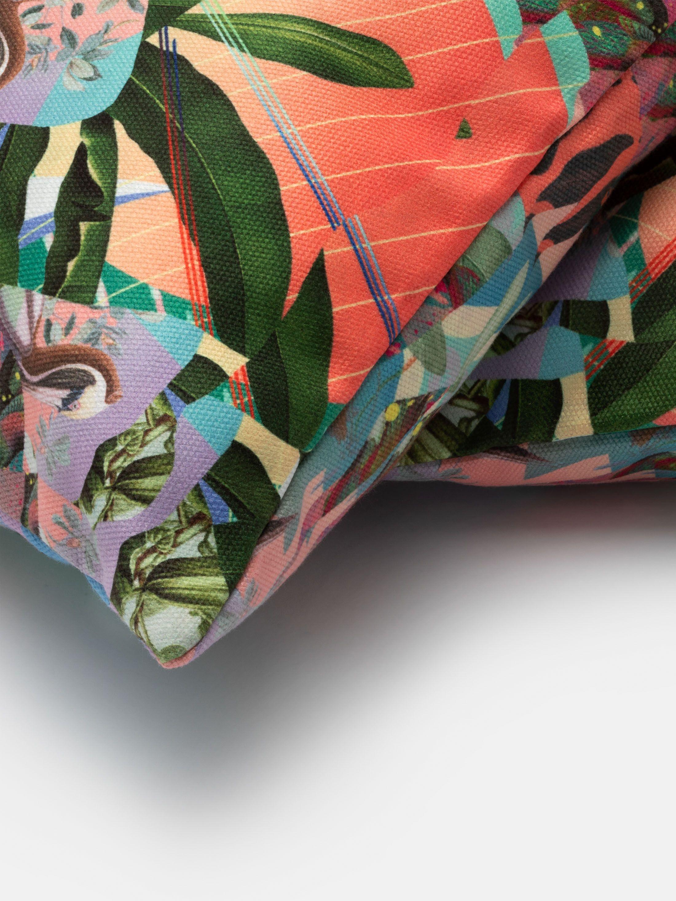 coussin customiséb avec motif boho
