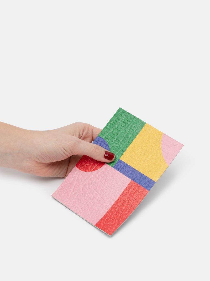 muestra impresa en cuero de nappa texturizado