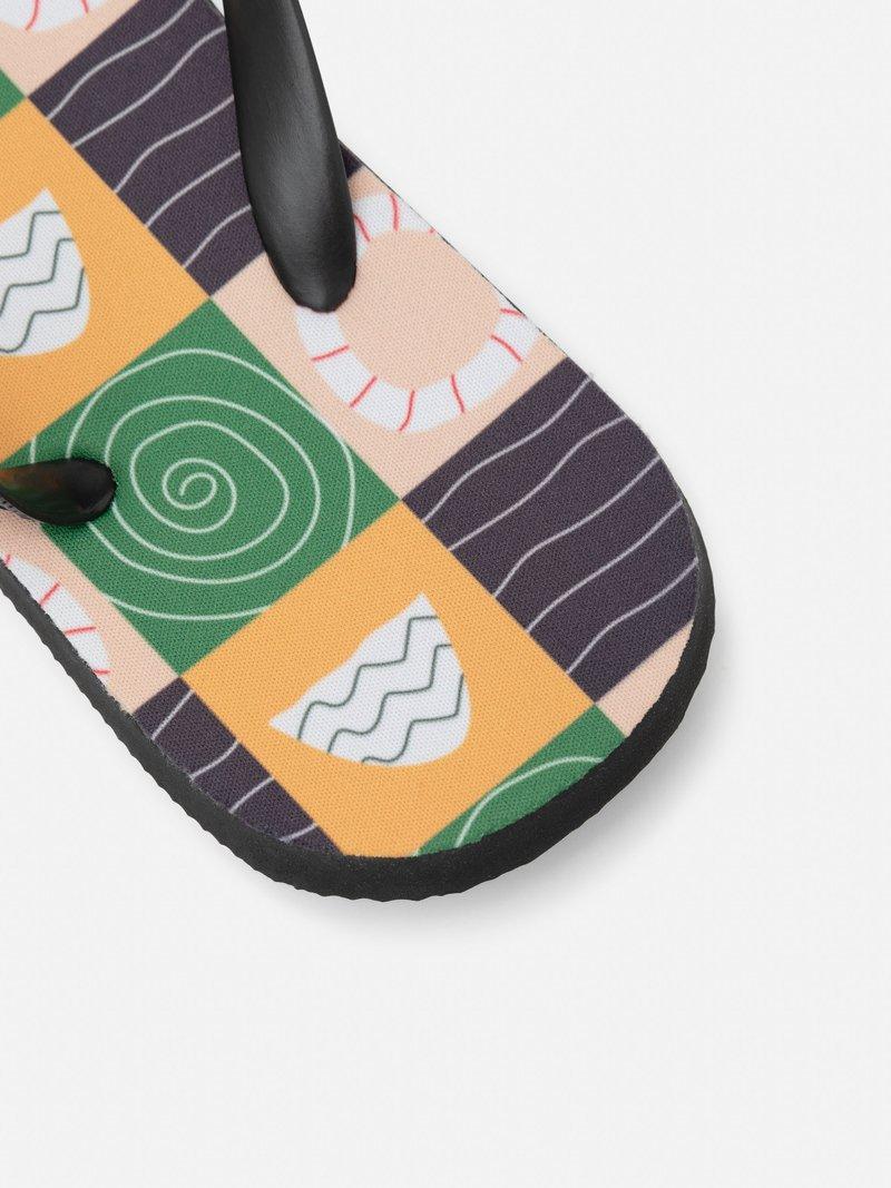 customized flip flips on feet