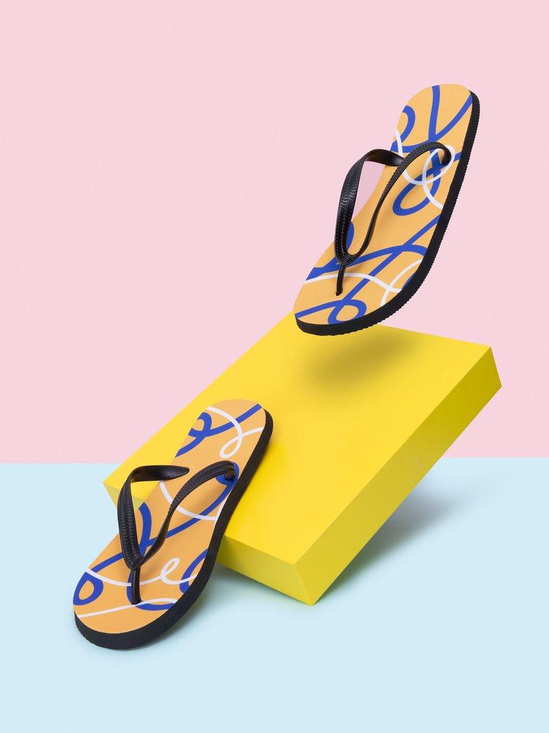kids custom flip flops