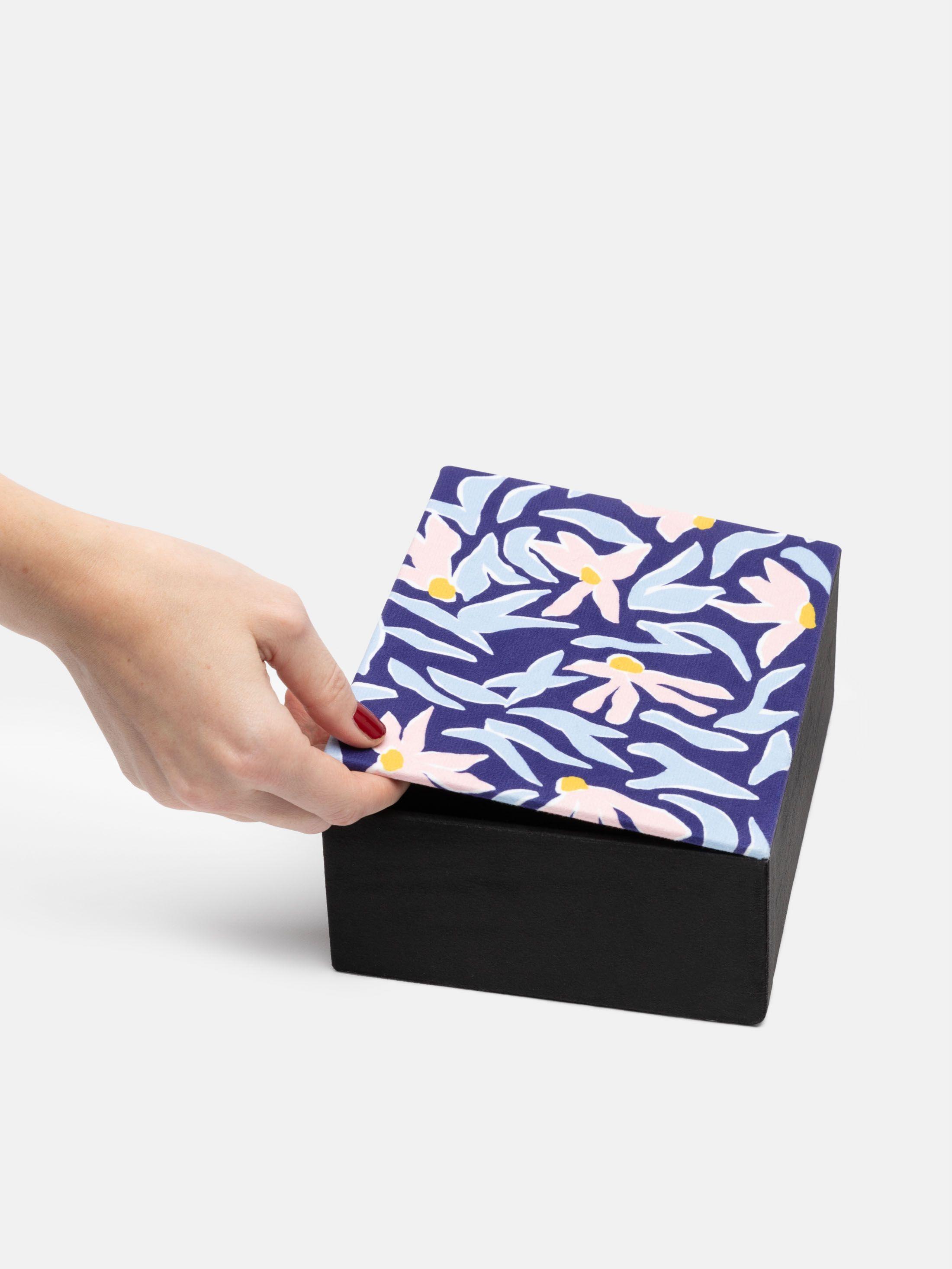 Boîte à bijoux personnalisée design rétro