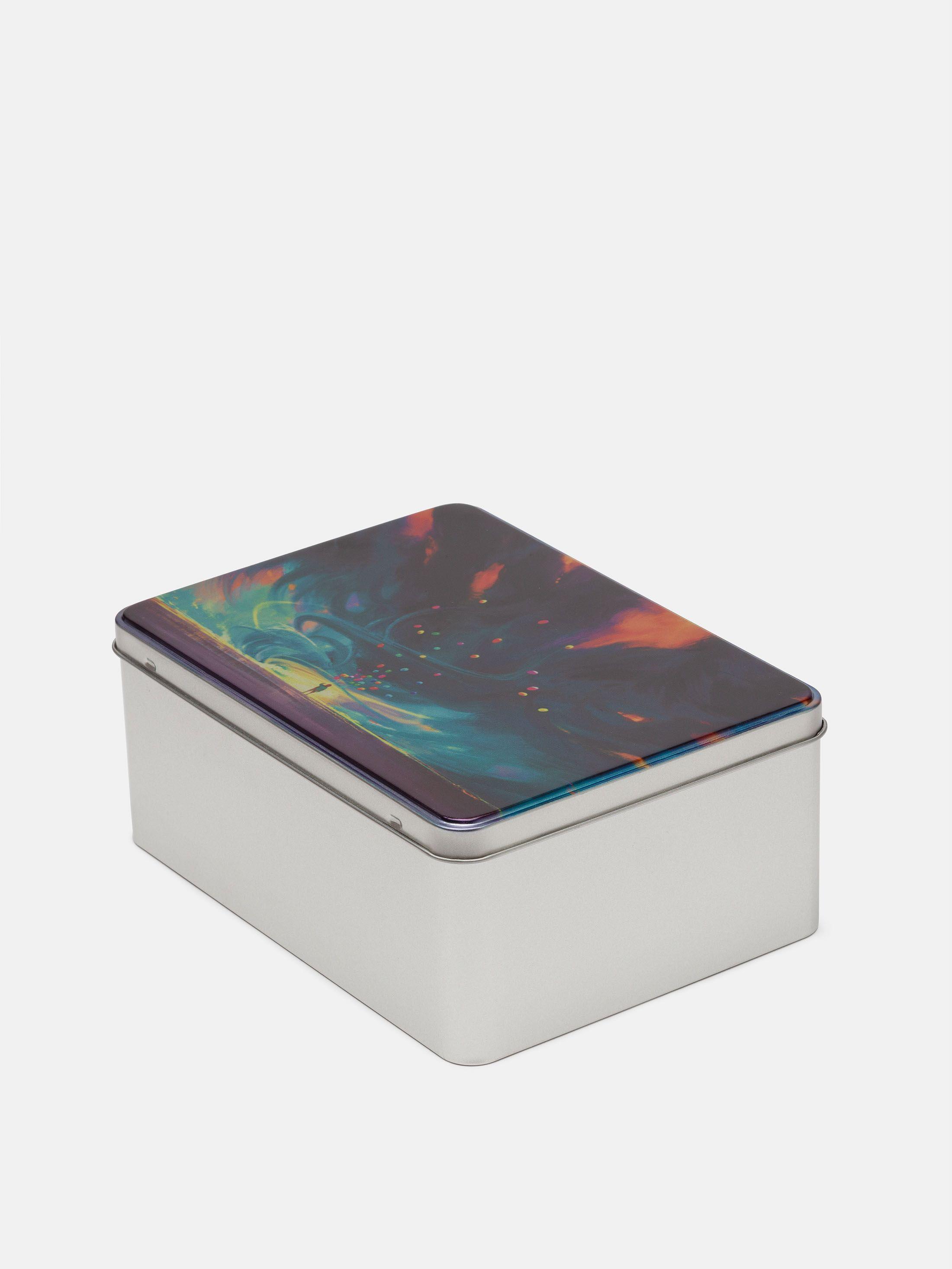 custom metal storage tin