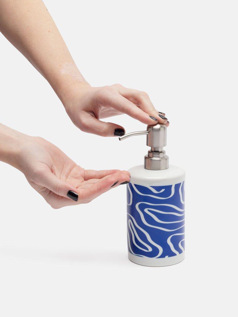 wrap around Ceramic Soap Dispenser