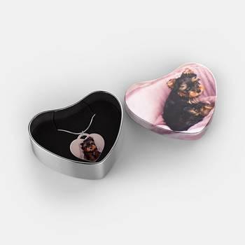 Pendentif coeur en argent sterling