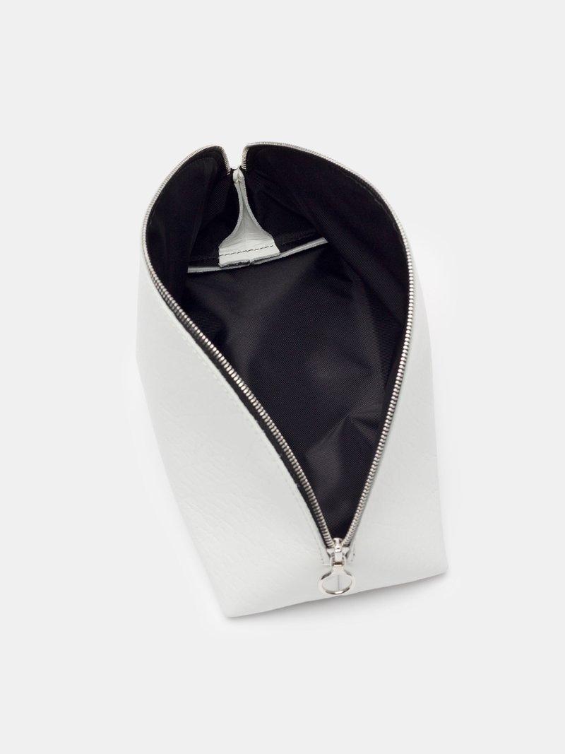 custom printed cosmetic bags open