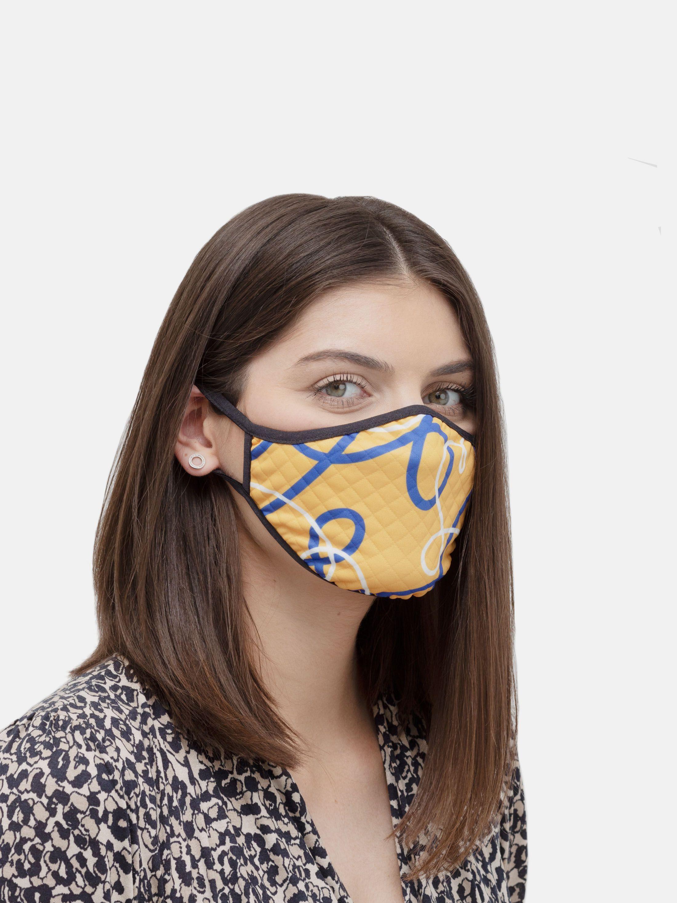 ansiktsmask med tryck för dam