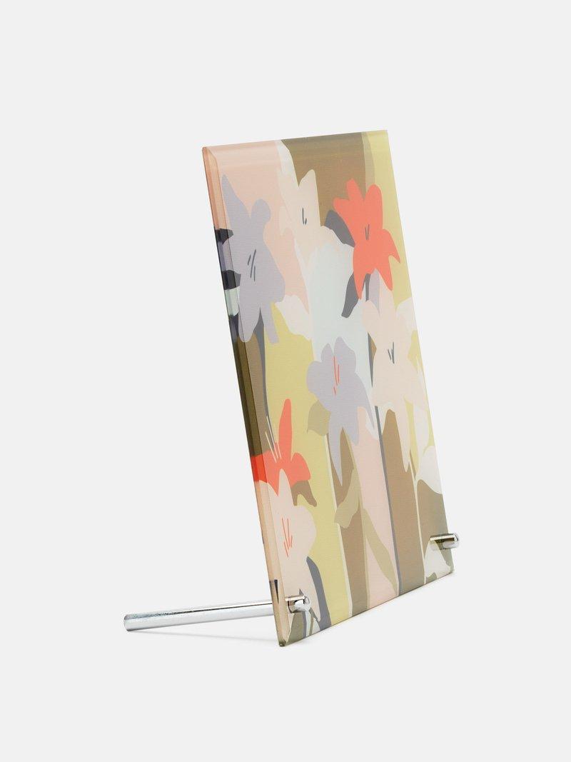 verre imprimé avec design