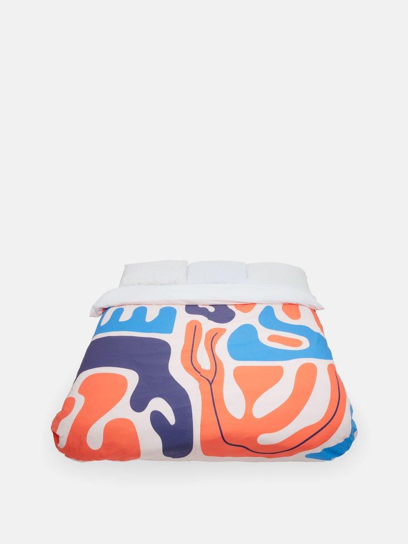 寝室用 プリント布団カバー
