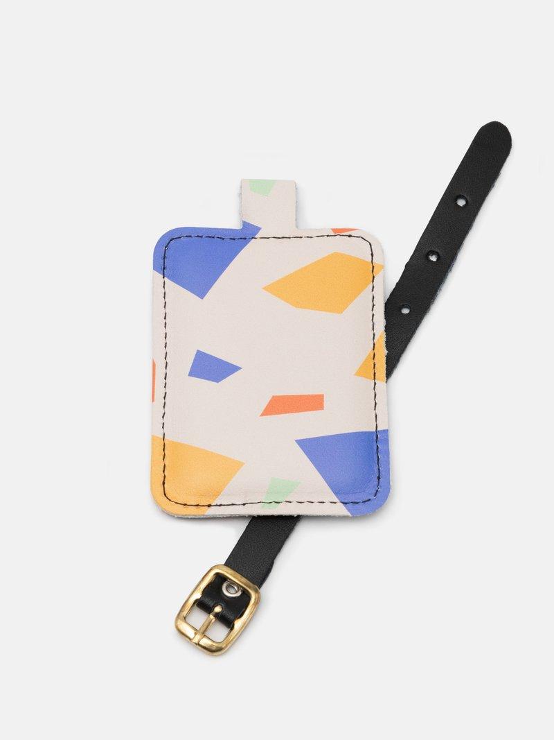 Etiquette à bagage imprimée en couleur