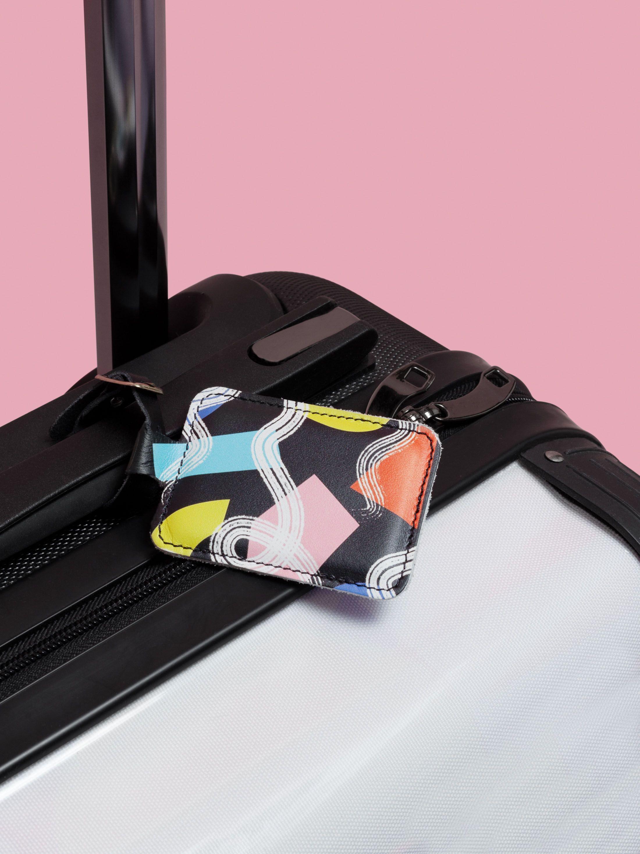 Etiquette à bagage imprimée avec dessin