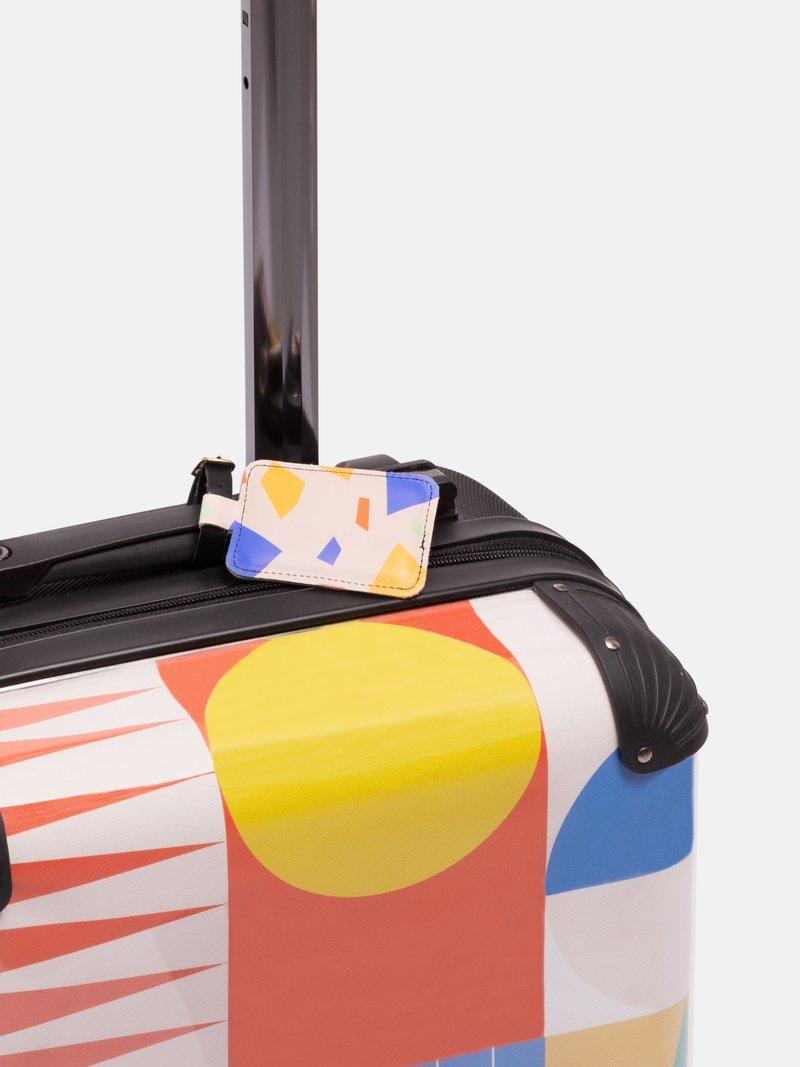 Coutures sur l'étiquette à bagage personnalisable