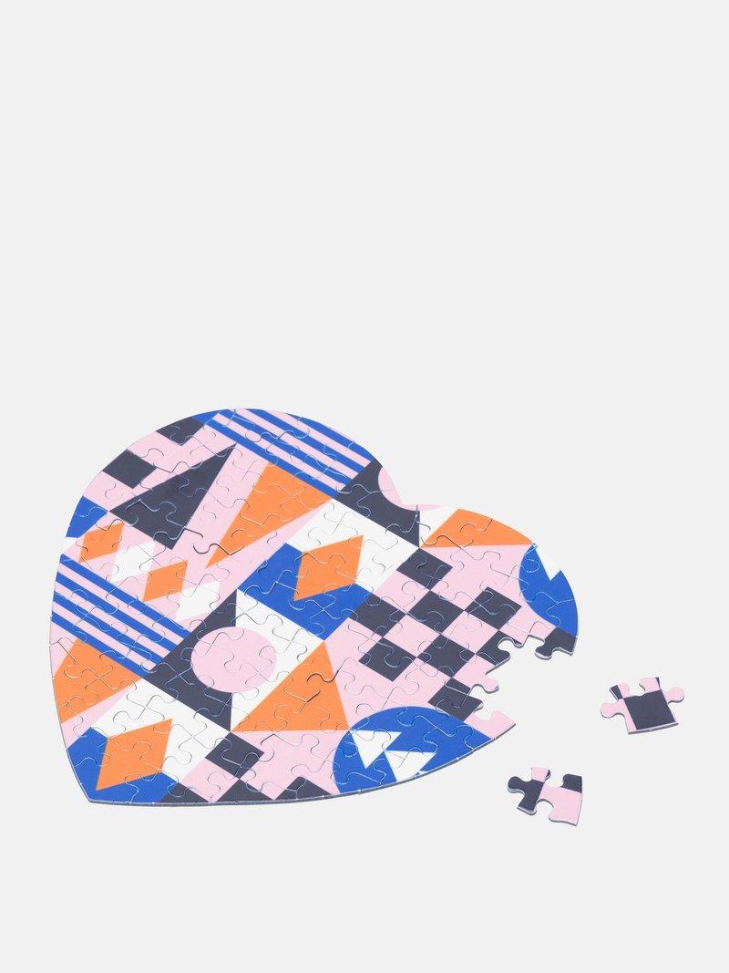 Impression sur puzzle coeur avec design