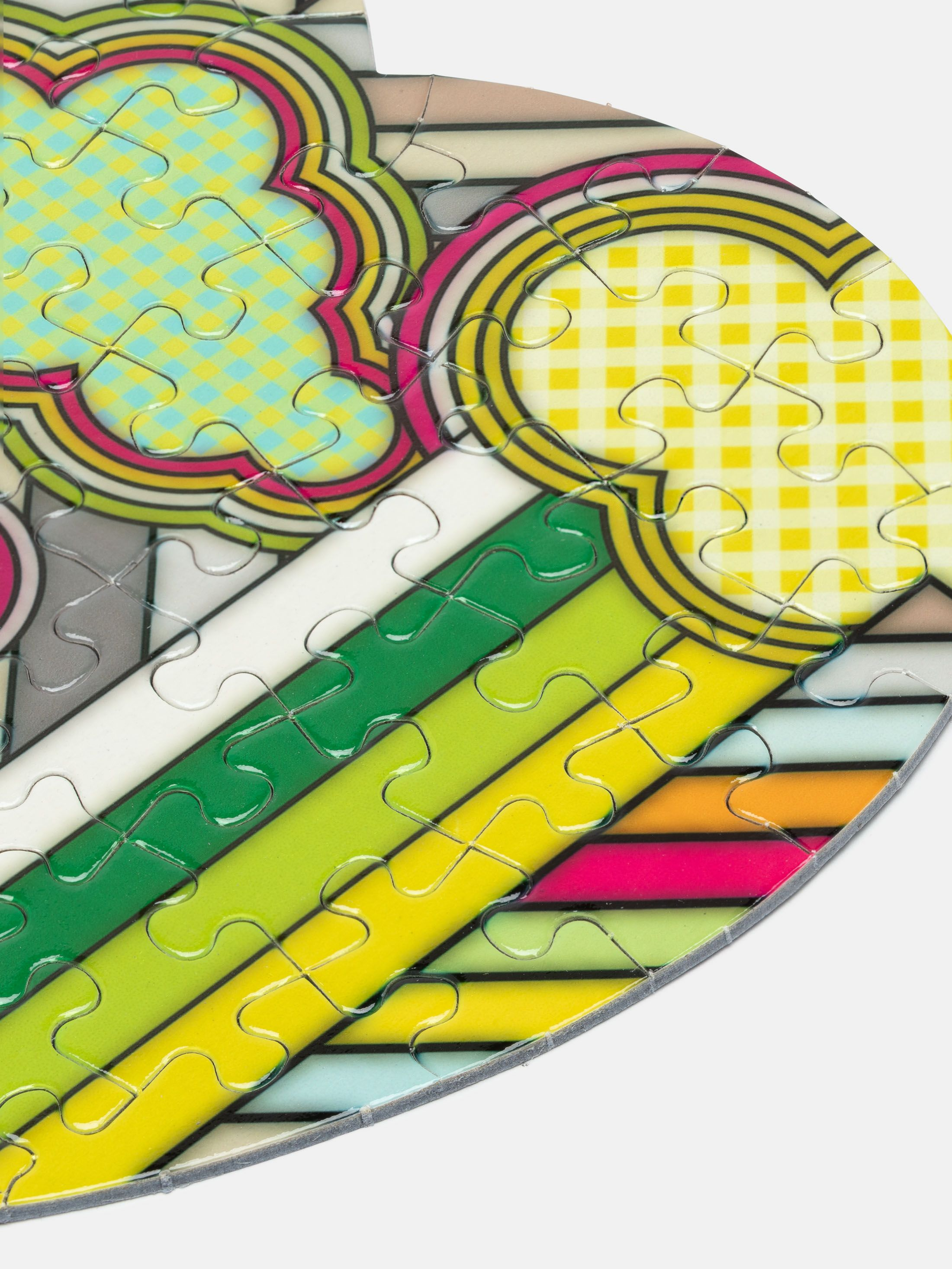 Jigsaw puzzle pieces closeups