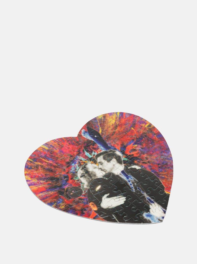 Bespoke heart shaped puzzle printing