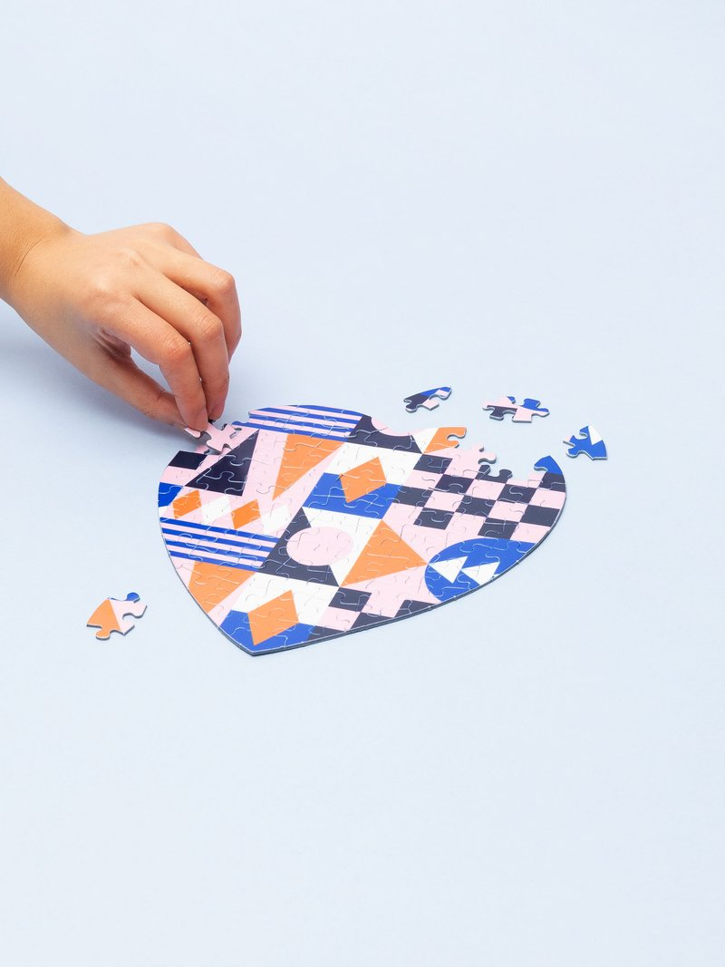 Impression sur puzzle coeur avec 75 pièces