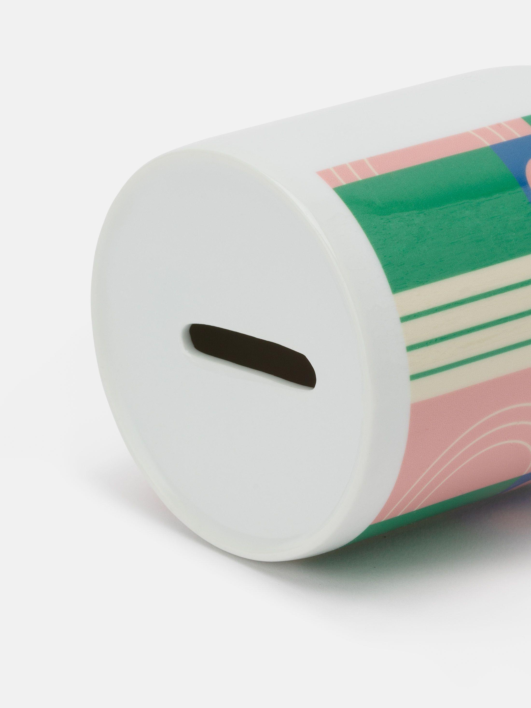 Impression sur tirerelire avec design coloré