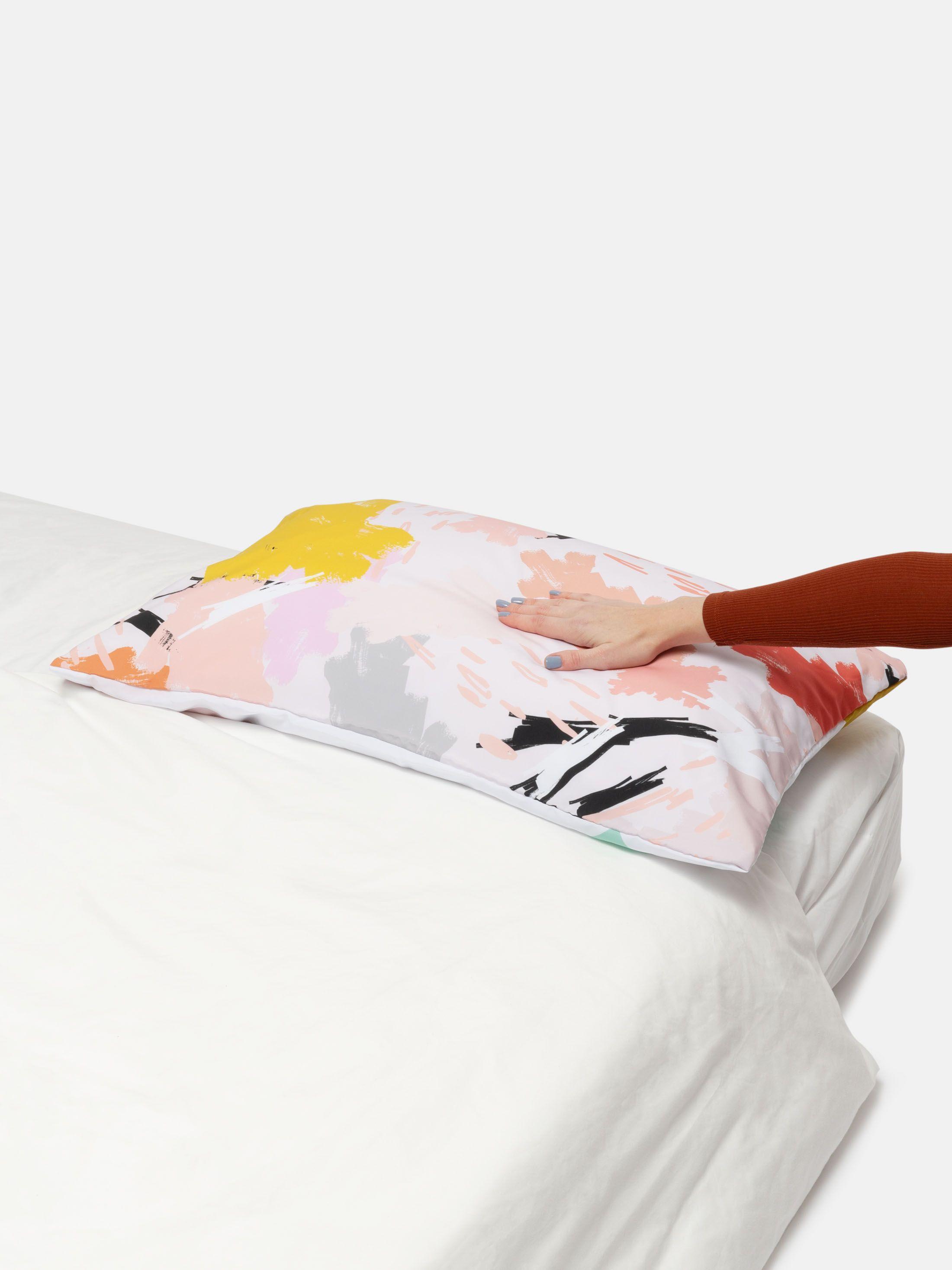 Finitions de la taie d'oreiller imprimée