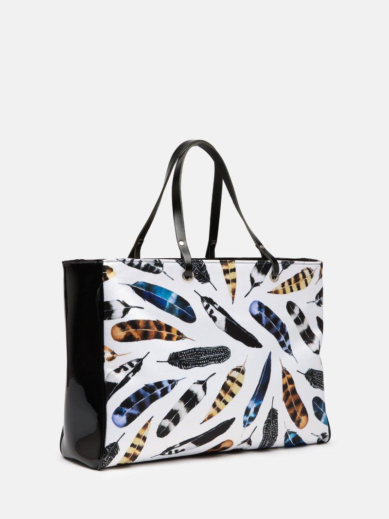 handtasche bedruckt mit grafik blumen